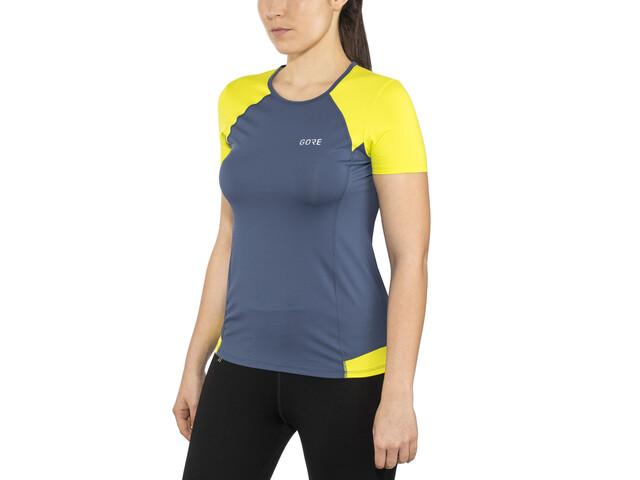 GORE WEAR R5 T-shirt Femme, deep water blue/citrus green